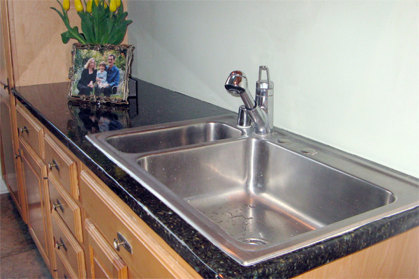 Countertop resurfaced with Contact Paper