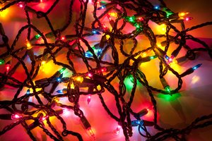 A bundle of Christmas lights