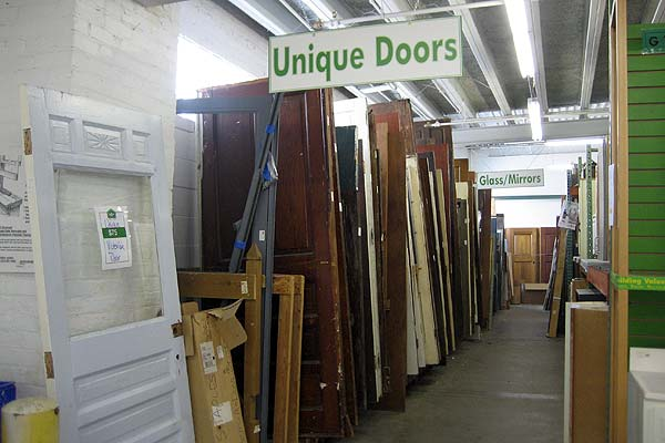 Selection of salvaged doors for sale