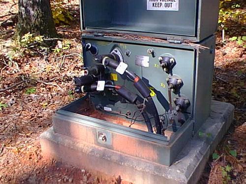 Level Enclosures For Underground Utility On Underground Wiring Cable