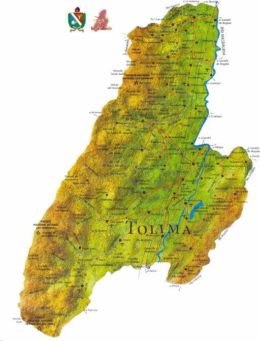 Mapa Tolima
