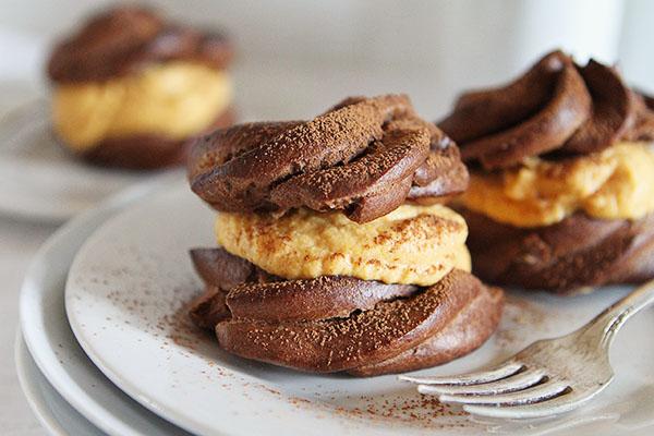 Pumpkin Chocolate Cream Puffs  The Kitchenthusiast