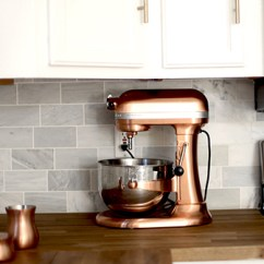 Copper Kitchen Aid Mixer How To Build An Outdoor Incorporating Countertop Appliances Into Your ...