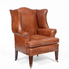Leather Wing Chair Uk Soccer For Seniors Tennants Auctioneers A 19th Century Brown