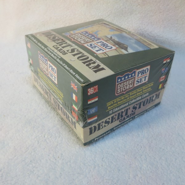 Complete Sealed Desert Storm Military Trading Cards 36