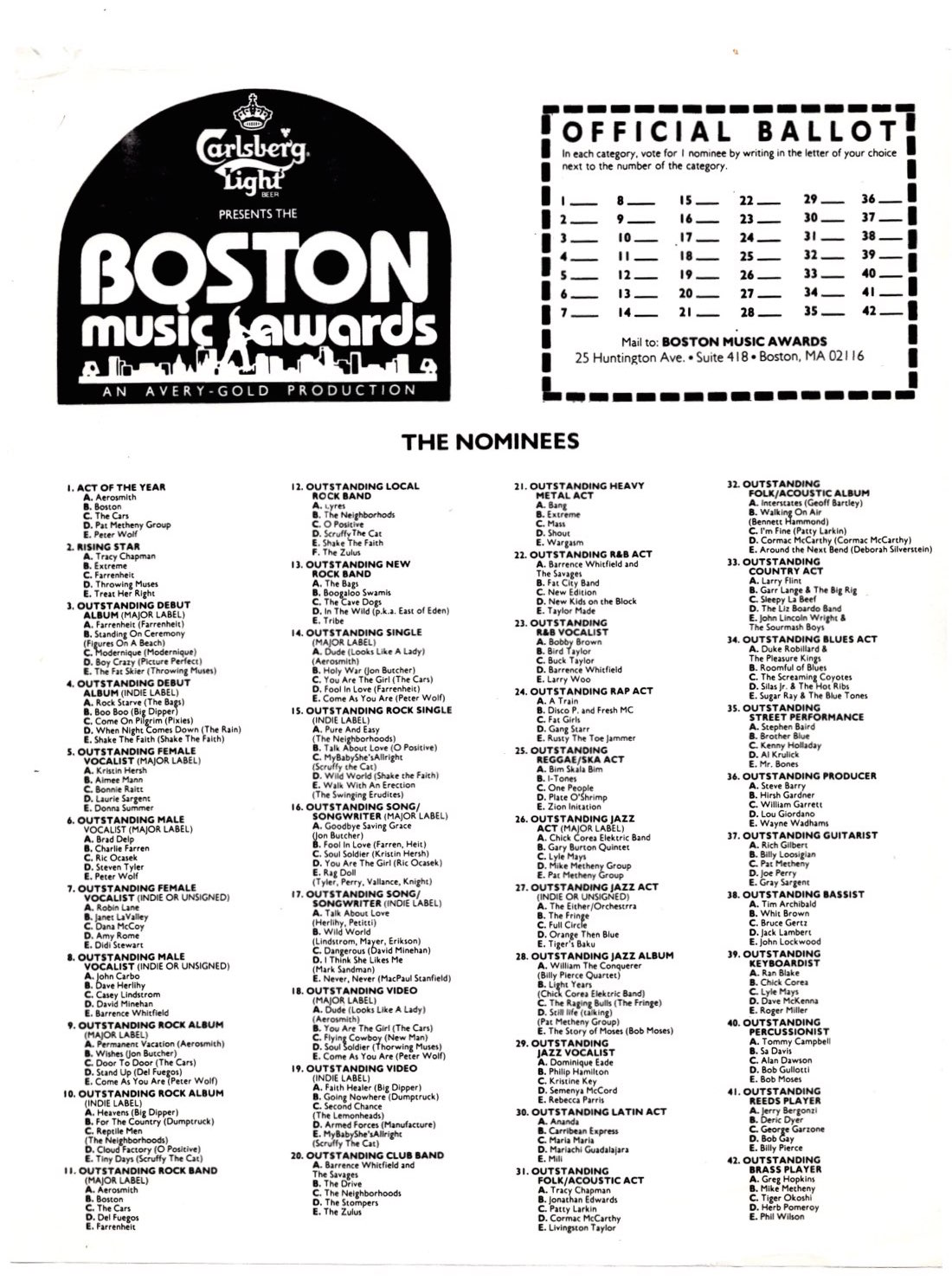 Boston Music Awards
