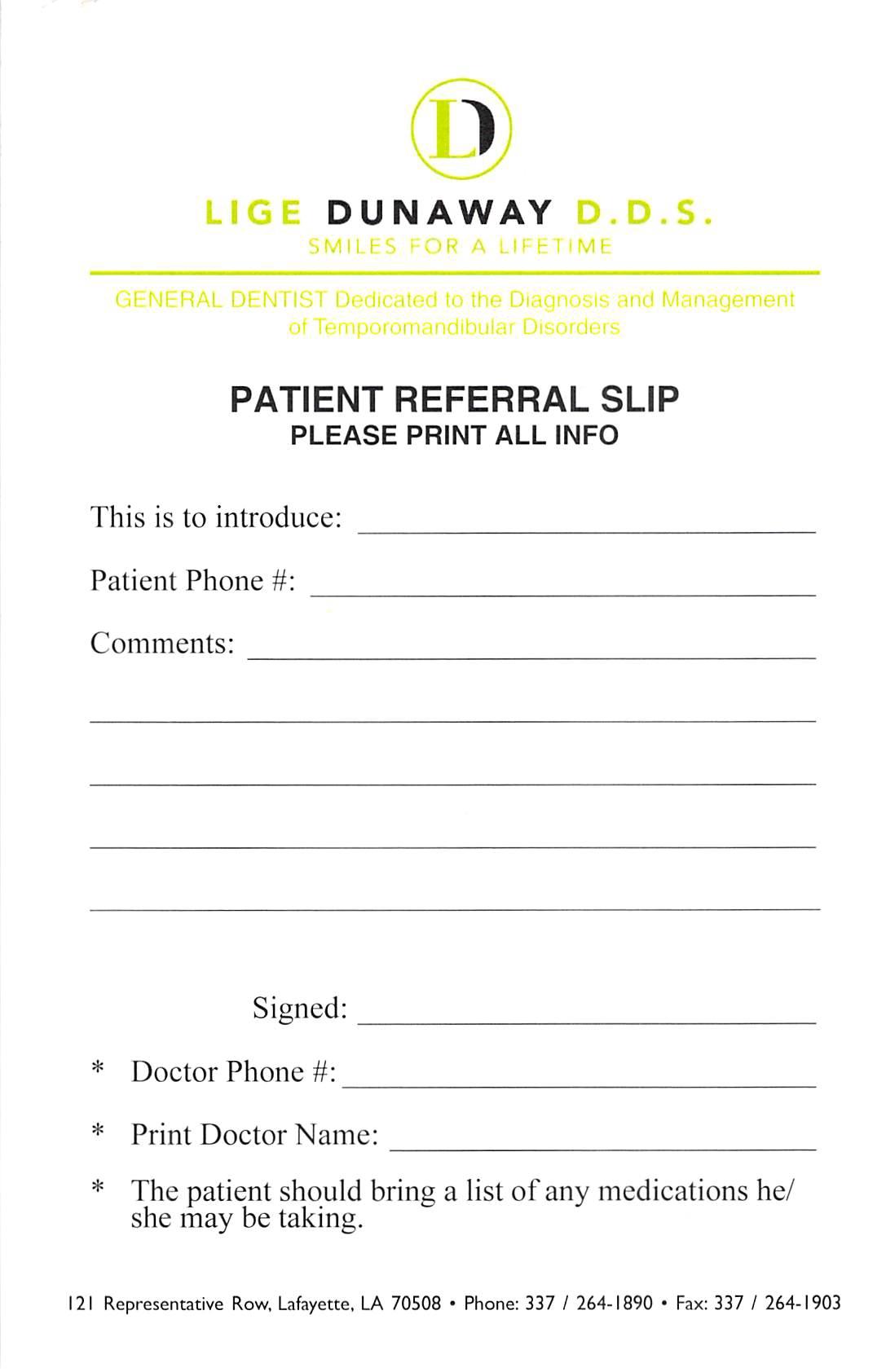doctor referral lafayette la