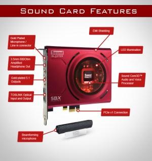Placa De Som Creative Sound Blaster Z Pcie C Microfone