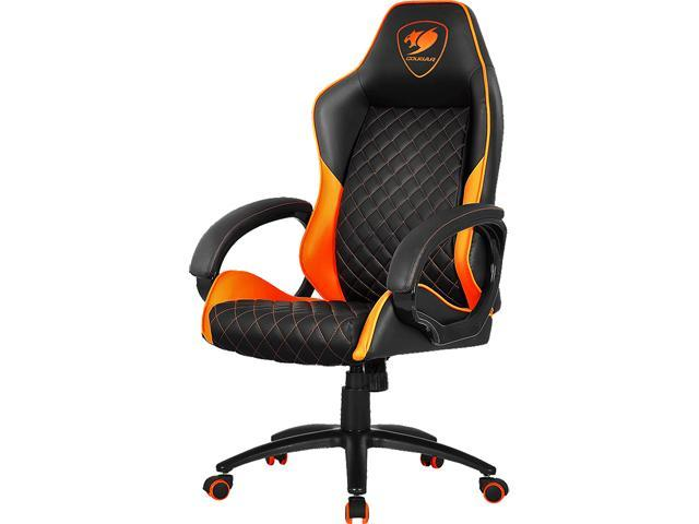 comfy pc gaming chair target accent cougar fusion orange high comfort newegg com