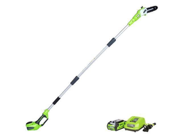 Greenworks G-MAX 40V 8-Inch Bar & Chain Pole Saw + Battery