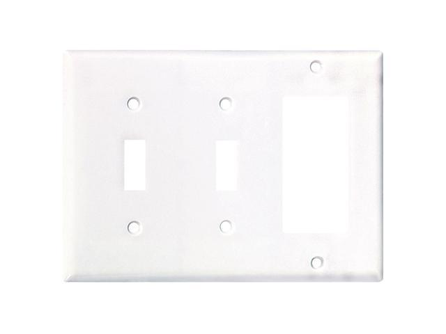 Cooper Wiring Devices 2173W 2-Gang 2 Toggle/1 Decora-Style