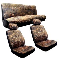 Duck Hunting Chair Farmhouse Chairs Muddy Water Camo Seat Covers 2 Front Seats Rear Bench Camouflage