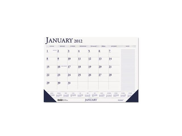 Two-Color Monthly Desk Pad Calendar w/Large Notes Section