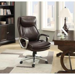 La Z Boy Big Tall Executive Leather Office Chair Black Upholstered And Ottoman Conrad Brown Newegg Com
