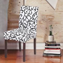 Quality Dining Room Chair Covers Pottery Barn Wicker And Ottoman High Stretch Removable Washable Short Cover Soft Milk Silk Spandex Printing