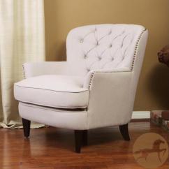 Tafton Club Chair Wall Rail Christopher Knight Home Tufted Fabric Newegg Com
