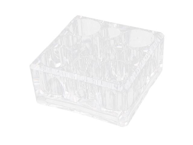 Acrylic 9 Compartments Brush Cosmetic Case Holder Jewelry