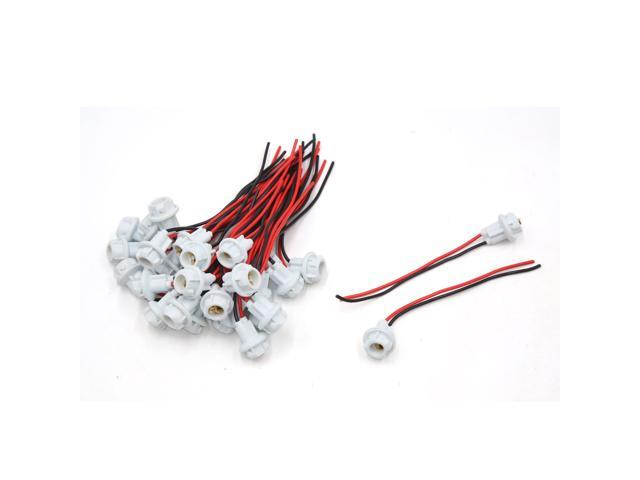 30pcs T10 LED Light Bulb Socket Holder Wiring Harness