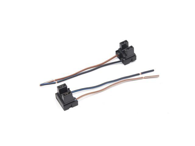 2Pcs H7 Fog Light Lamp Bulb Extension Wiring Harness