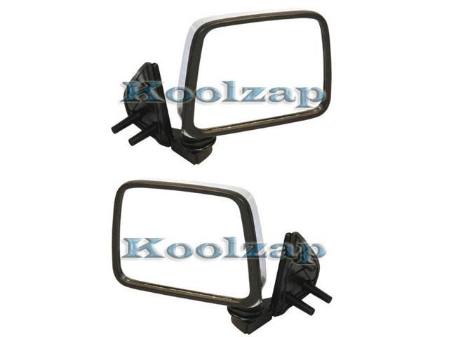 Manual Chrome Door Mirror Right Left Side SET PAIR For D21