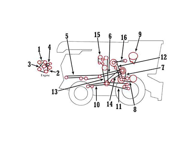 H108175 New Separator / Primary Countershaft Belt for John