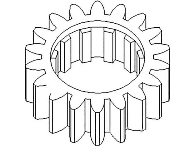 70246545 New Reverse Countershaft Gear For Allis Chalmers