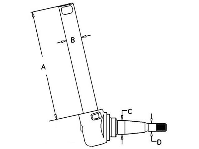 897231M94 New LH Spindle for Massey Ferguson 20D 20E 165