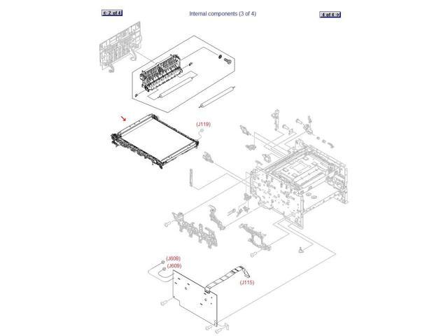 Intermediate Transfer Belt (ITB) Assembly for HP RM1-7866