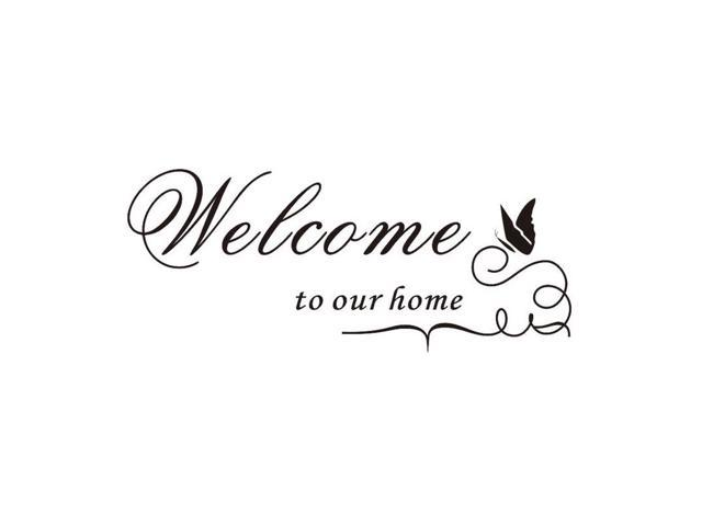 DIY Double Sided Visual Letter Wall Sticker Welcome to our