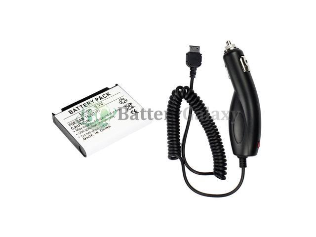 NEW Phone Replacement Battery+Car Charger for Samsung SGH