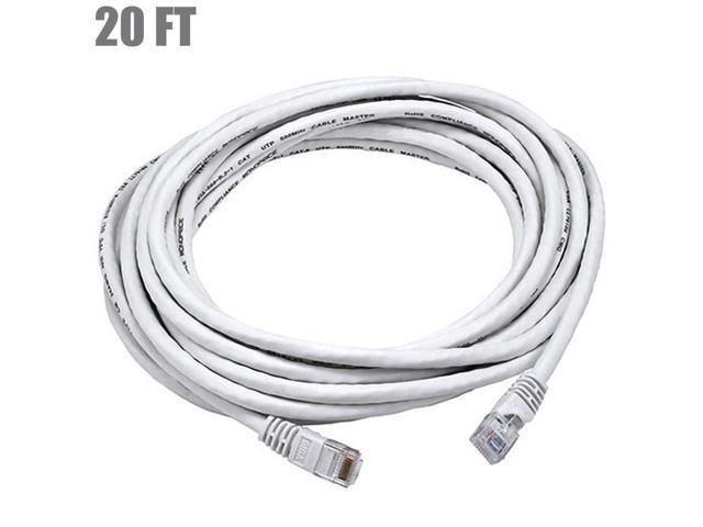 20FT Cat5E RJ45 Ethernet LAN Network UTP Patch Cable