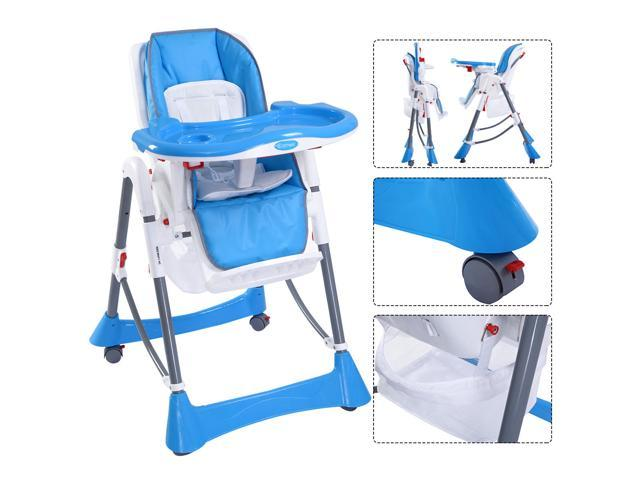 infant feeding chair recliner chairs costco portable baby high toddler booster folding highchair blue
