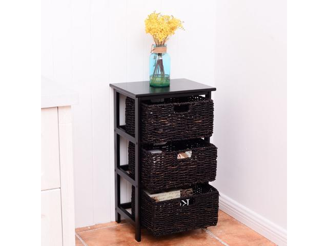 Wooden End Accent Storage Table Home Office Furniture