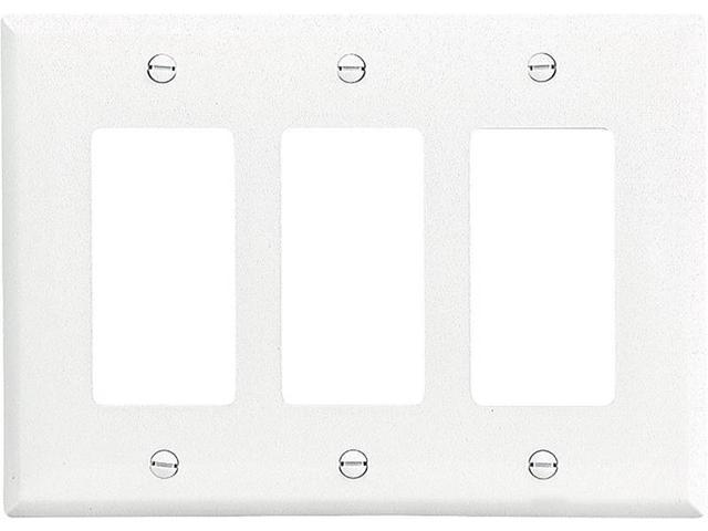 Eaton Wiring Devices PJ263W Decorative Wallplate 3-Gang