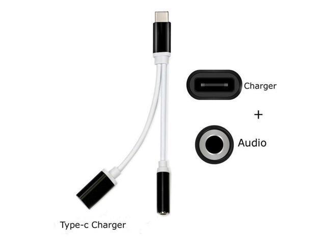 USB Type-C To 3.5mm Jack AUX Headphone Audio Splitter