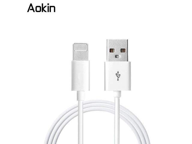 Aokin 2016 1M 8 Pin TPE White USB Cable Synce Cable