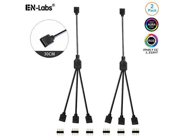 Enlabs 12V 4-Pin RGB 3-Way Female to x Female RBW LED