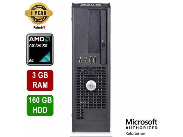 Dell OptiPlex 580 Desktop, AMD Athlon Dual Core, 3GB RAM
