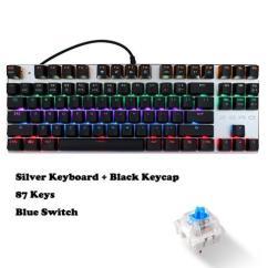 Mechanical Keyboard Wiring Diagram Pi Controller Block Wanmingtek Usb Wired Gaming 87 Keys Red Switch With Led Mix