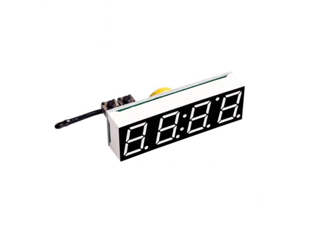 Red 3 in 1 LED DS3231SN Digital Clock Temperature Voltage