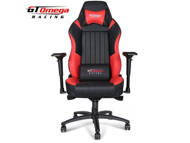racing office chairs metal garden table and 2 gt omega evo xl gaming chair black red leather