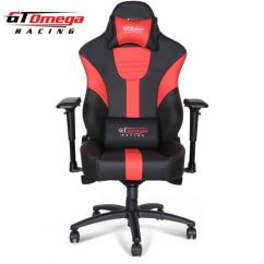 Xl Desk Chair Jazzy Power Batteries Gt Omega Master Racing Gaming Office Black And Red Leather