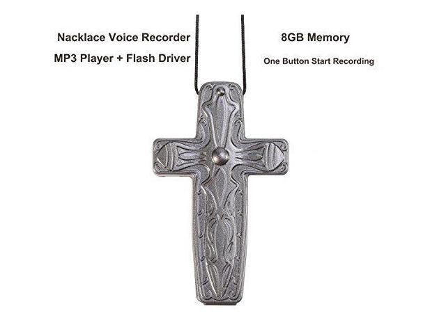 eoqo Necklace style Digital Audio Voice Recorder with USB