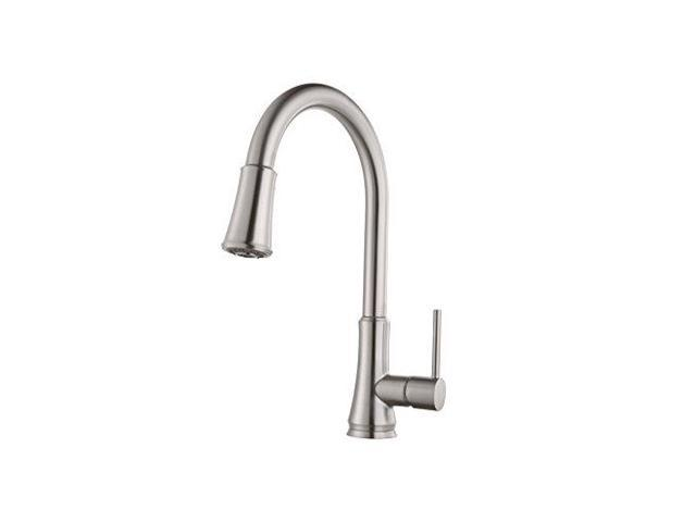water efficient kitchen faucet pendant lighting island pfister g529pf1s pfirst series single handle pull down in stainless steel