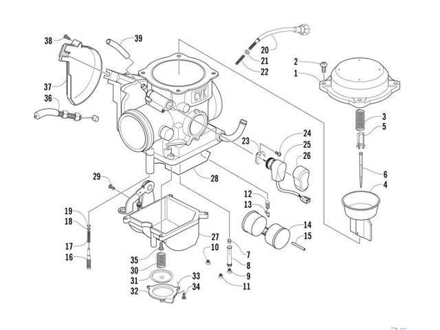 Arctic Cat 400 Parts Diagram