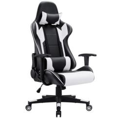 Comfortable Chair For Gaming Scandinavian And Ottoman Homall Racing Style Ergonomic Computer With High Back Swivel Pu Leather Seat