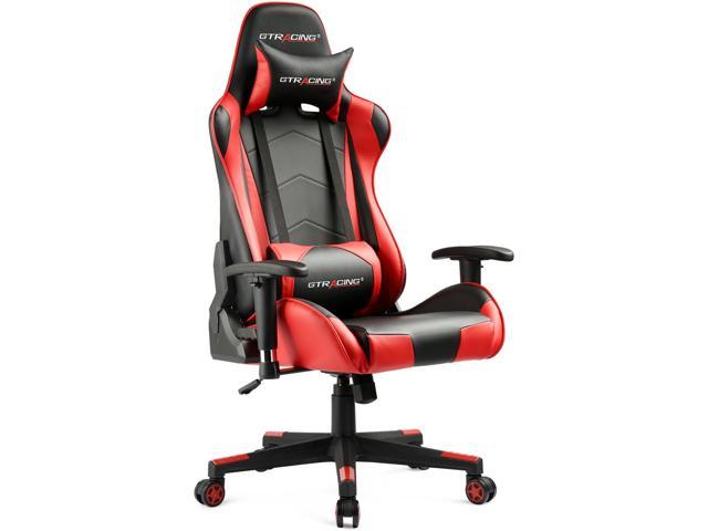 ergonomic chair replacement parts folding butterfly gtracing gaming office racing style e sports with backrest seat height adjustment and pillows