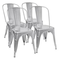 Silver Metal Dining Chairs Modern Room Johannesburg Furmax Chair Indoor Outdoor Use Stackable Chic Bistro Cafe Side