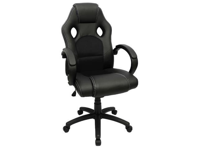 pu leather office chair transport reviews furmax gaming desk high back ergonomic racing executive swivel computer with headrest and lumbar support black