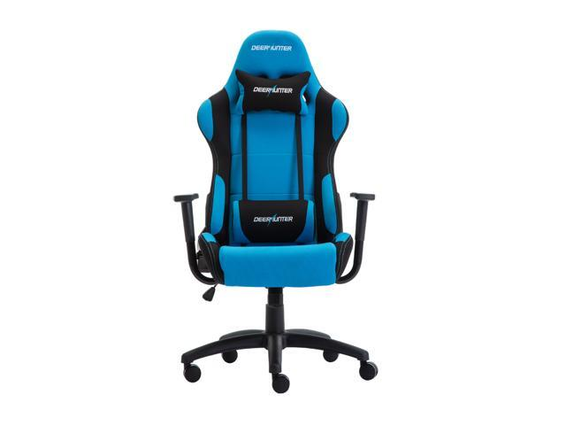 blue leather office chair table and rental jacksonville fl deerhunter gaming swivel mesh fabric racing sport ergonomic high back computer desk